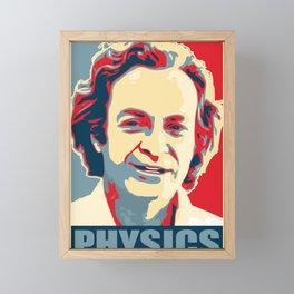 Richard Feynman Physics Framed Mini Art Print