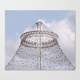 Metal Canopy Ring for U.S. Pavilion for The 1974 World's Fair Canvas Print