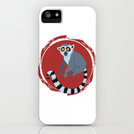 Lemur Colorful Red iPhone Case