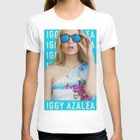 iggy azalea T-shirts featuring Iggy Azalea Blue by Illuminany
