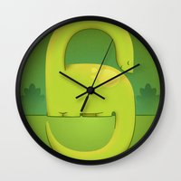 dino Wall Clocks featuring Dino by Andy DuFort