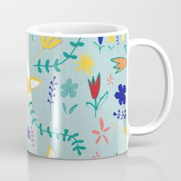 Floral The Tortoise and the Hare is one of Aesop Fables green Coffee Mug