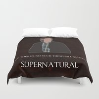 winchester Duvet Covers featuring Supernatural - Sam Winchester by MacGuffin Designs