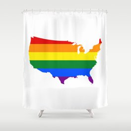 Love Wins Map Shower Curtain