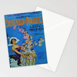 Vintage 1924 Ziegfeld Follies Moulin Stage Theater Advertisement Poster Stationery Cards