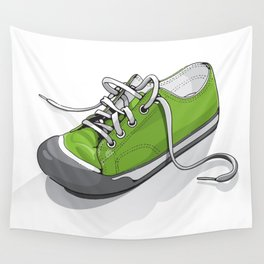 A Green Shoe Wall Tapestry