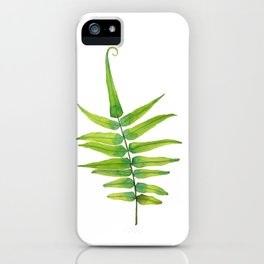 Green Fern Leaf  - Tropical forest iPhone Case