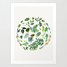Circle of Leaves Art Print