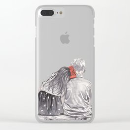 Boy Meets Girl Clear iPhone Case