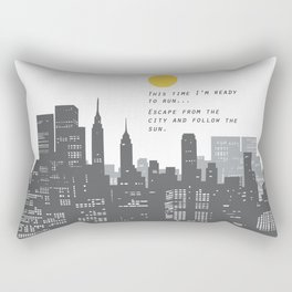 Escape from the City... Rectangular Pillow