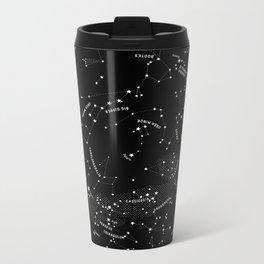 Constellation Map - Black Metal Travel Mug
