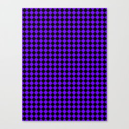 Black and Indigo Violet Diamonds Canvas Print