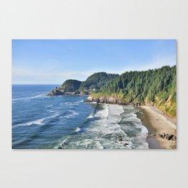 Beautiful day on the Oregon Coast. Canvas Print