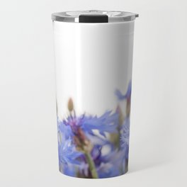 Bunch of blue cornflower flowerheads Travel Mug