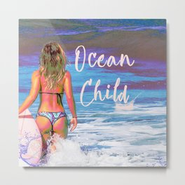 Ocean Child Metal Print