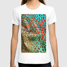 Leopard spot flowers on fabric T-shirt