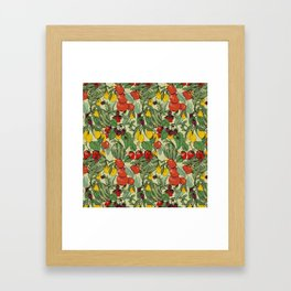 Fruit Salad Pattern Framed Art Print