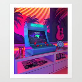 Arcade Dreams Art Print