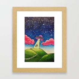 Cow Abduction Framed Art Print