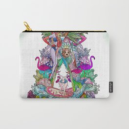 A - teal Carry-All Pouch