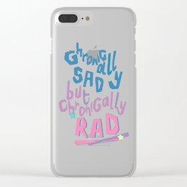 Sad and Rad Clear iPhone Case