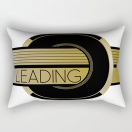 LEADING Geometric Art Circle & Stripes Rectangular Pillow