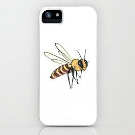 Happy Bee 1 iPhone Case