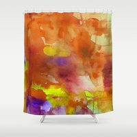 rose gold Shower Curtains featuring Rose Gold  by ariesmoon