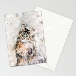 Duchess Watercolor Cat Stationery Cards