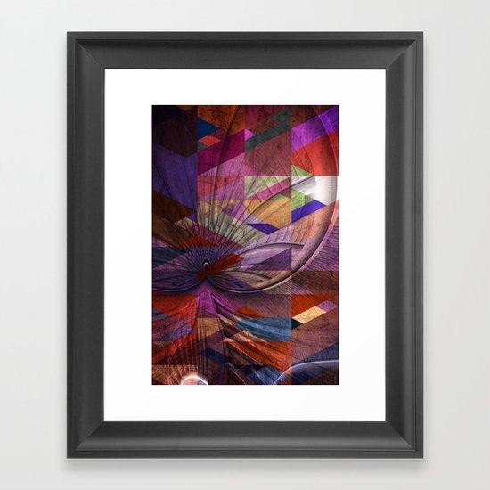 Triangle and Fractal Design Framed Art Print