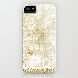 Indianapolis Map Gold iPhone Case