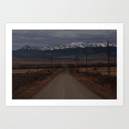 Road to the Bridger Mountains Art Print