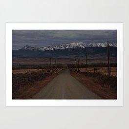Road to the Bridger Mountains Art Print