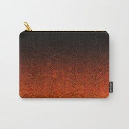Orange & Black Glitter Gradient Carry-All Pouch