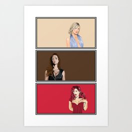 Blonde/Brunette/Redhead Art Print