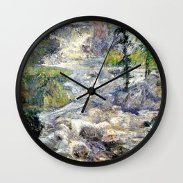 The Rainbows Source - John Henry Twachtman Wall Clock