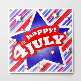 4th of july design Metal Print