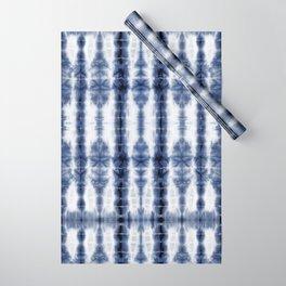 Tiki Shibori Blue Wrapping Paper