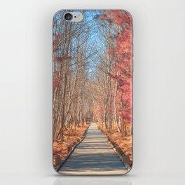 Jesup Boardwalk Trail - Tickle Me Pink iPhone Skin
