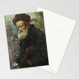 Maurycy Trebacz 1861-1941 RABBI WITH LULAV AND ETROG CONTAINER Stationery Cards