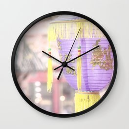 Pretty Chinatown Scene by Murray Bolesta Wall Clock