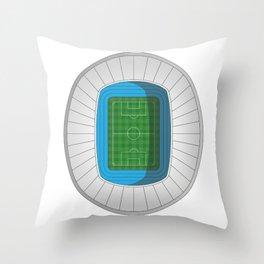 Football Stadium Throw Pillow
