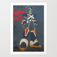 megaman Art Prints featuring Megaman X by JHTY