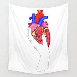 Anatomical Heart Art, Medical Illustration, Human Heart Wall Tapestry