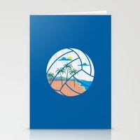 volleyball Stationery Cards featuring Beach Volleyball by Erik Sandi Satresa