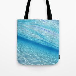 Beach Ocean Water Waves Photography Blues Underwater Pool Tote Bag