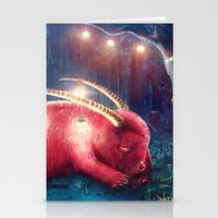 wild things Stationery Cards featuring WILD THINGS by Ryan Laing