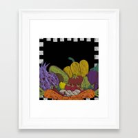 cook Framed Art Prints featuring Cook by elvia montemayor