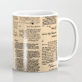 George Washington's Letters // Dark Paper Coffee Mug