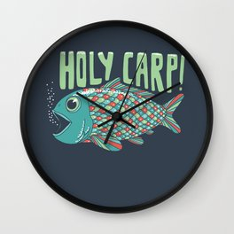 Holy Carp! Wall Clock